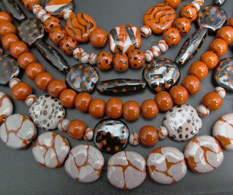 black and orange beads 3
