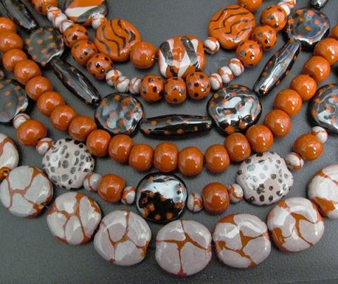 black and orange beads 3