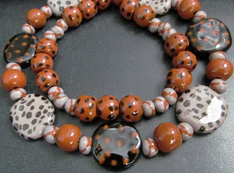 black and orange beads 4