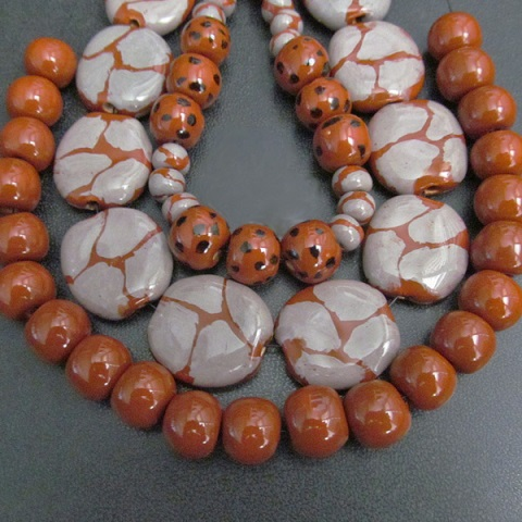 black and orange beads 5