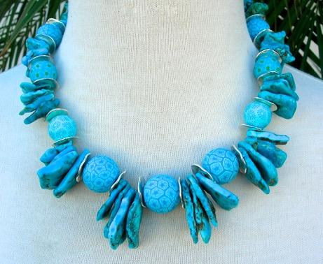 Turquoise bindu necklace 1