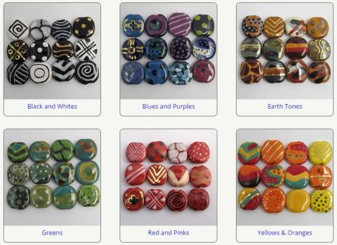 kazuri beads selection
