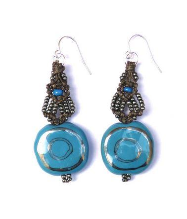ifat nesher micromacrame kazuri earrings 3