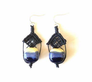 ifat nesher micromacrame kazuri earrings 4
