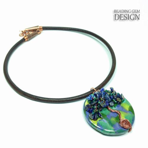 Kazuri tree of live pendant necklace 1 LOGO