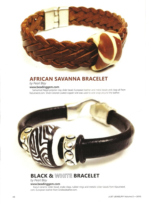 just jewelry beading gem design bracelets 1