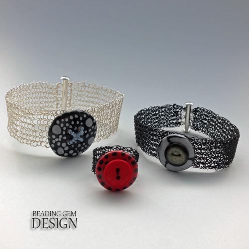 wire crochet Kazuri button jewelry group LOGO
