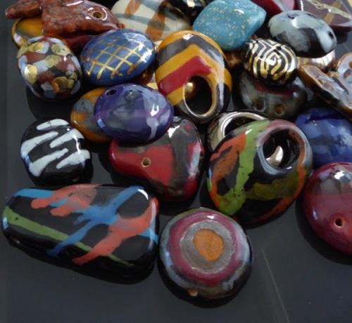 Kazuri pendants 2