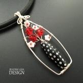 black and red flower bead vase pendant LOGO copy