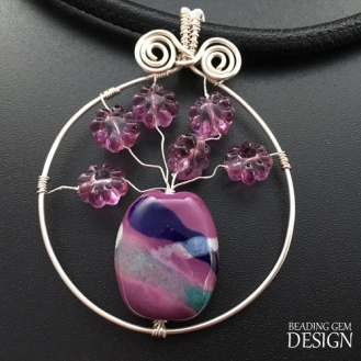 purple flower bead vase PENDANT LOGO copy