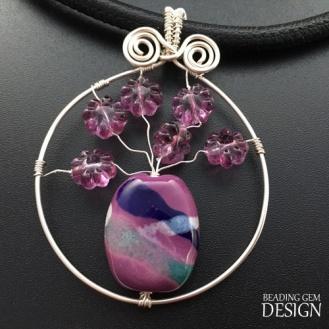 purple flower bead vase PENDANT LOGO copy